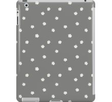 Elderflowers on grey, sparse iPad Case/Skin