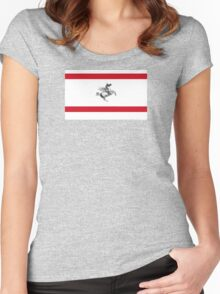 Flag of Tuscany  Women's Fitted Scoop T-Shirt