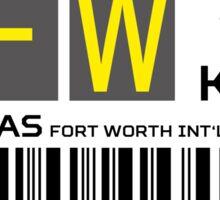 Destination Dallas Airport Sticker