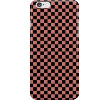 Camellia Pink and Black Classic Checkerboard Repeating Pattern iPhone Case/Skin