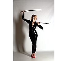 Catsuit & swords Photographic Print