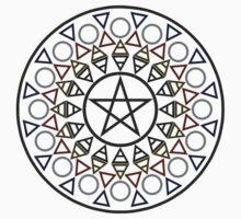 Pentagram (Color) One Piece - Short Sleeve