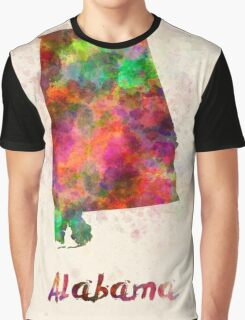 Alabama US state in watercolor Graphic T-Shirt