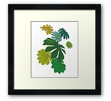 Tropical Leaves Framed Print