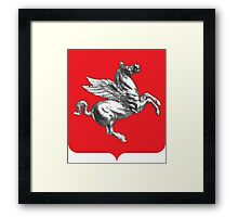 Coat of Arms of Tuscany, Italy  Framed Print