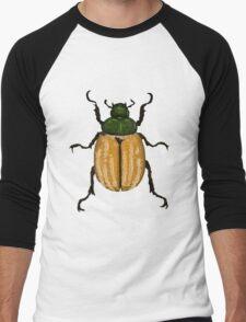 Orange-green Beetle Men's Baseball ¾ T-Shirt