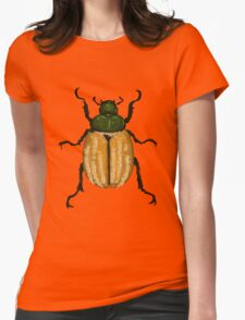 Orange-green Beetle Womens Fitted T-Shirt