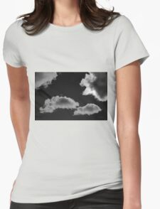 Cloudscape XVIII BW Womens Fitted T-Shirt
