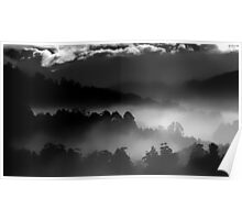 Foggy Mountains Poster