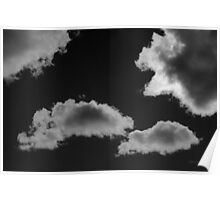 Cloudscape XVIII BW Poster