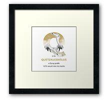 Q is for Quetzalcoatlus Framed Print