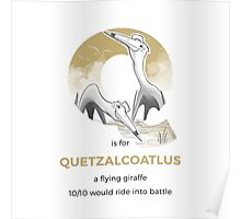 Q is for Quetzalcoatlus Poster
