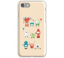 Robots day out iPhone Case/Skin