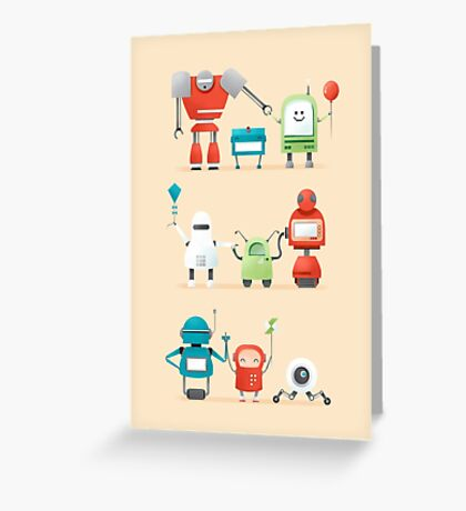 Robots day out Greeting Card