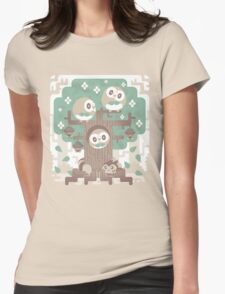 Wood Owl Woods Womens Fitted T-Shirt