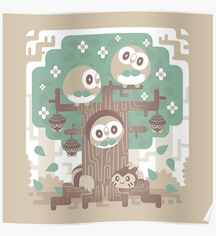 Wood Owl Woods Poster
