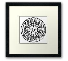 Pentagram (B&W) Framed Print