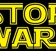 Stop Wars sticker by JP Grafx