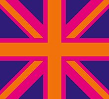Union Jack Pop Art (Orange, Pink & Purple) by sher00