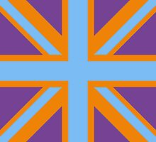 Union Jack Pop Art (Blue, Orange & Purple) by sher00