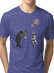The Magician Bear Tri-blend T-Shirt