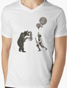 The Magician Bear Mens V-Neck T-Shirt