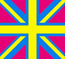 Union Jack Pop Art (Yellow, Blue & Pink) by sher00