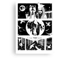Midnight Masquerade - Fineliner Illustration Canvas Print