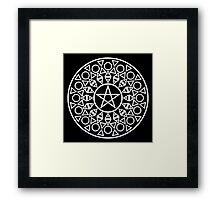 Pentagram (White) Framed Print