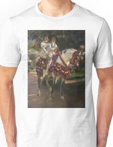 Joaquin Sorolla Y Bastida - Retrats D Elena I Maria Amb Vestits Valencians. Lovers portrait: sensual woman, woman and man, kiss, kissing lovers, love relations, lovely couple, family, valentine's day Unisex T-Shirt