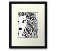 Paisley Hair with Hints of Purple Framed Print