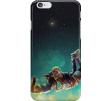 Two strangers falling in space iPhone Case/Skin