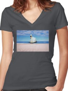 Unexpected Guest Women's Fitted V-Neck T-Shirt