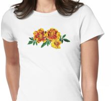 Three French Marigolds Womens Fitted T-Shirt
