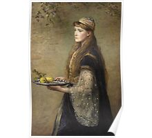 John Everett Millais - The Captive. Woman portrait  Poster
