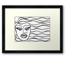 Cat Eyes in the Wind Framed Print