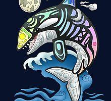 Rainbow Orca by Kanrei