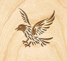 Eagle ~ Wood Carved by vikaze