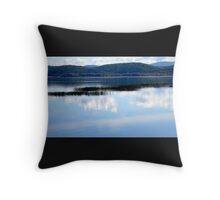 Lake and Mountain View Throw Pillow