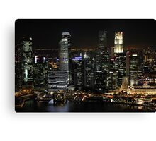 City Lights at Night Canvas Print