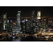 City Lights at Night Photographic Print