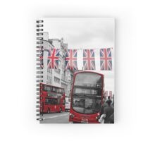 Oxford Street Flags Spiral Notebook