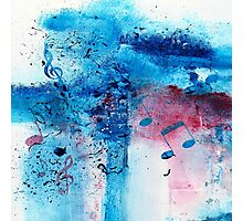 Abstract Acrylic Painting Music Notes II Photographic Print