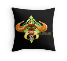 ZODIMANIACIA : TAURUS BUST THROW PILLOW Throw Pillow