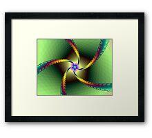 Whirligig in Green Framed Print
