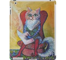 The Cat Reading iPad Case/Skin