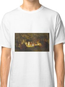 John George Brown - Picnic Party In The Woods. Female child portrait: cute baby, kid, children, pretty angel, child, kids, lovely family, boys and girls, boy and girl, mom mum mammy mam, childhood Classic T-Shirt