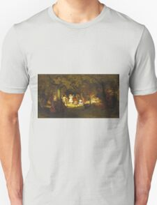 John George Brown - Picnic Party In The Woods. Female child portrait: cute baby, kid, children, pretty angel, child, kids, lovely family, boys and girls, boy and girl, mom mum mammy mam, childhood Unisex T-Shirt