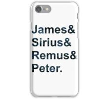 The Maurauders  iPhone Case/Skin