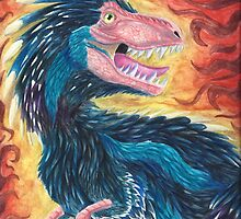 Feathered T-Rex by Kanrei